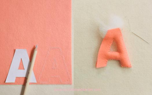 el yapımı keçe harfler