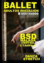 BALLET INFANTIL Y ADULTO INICIACIÓN EN BSD MÁLAGA CENTRO 622718686