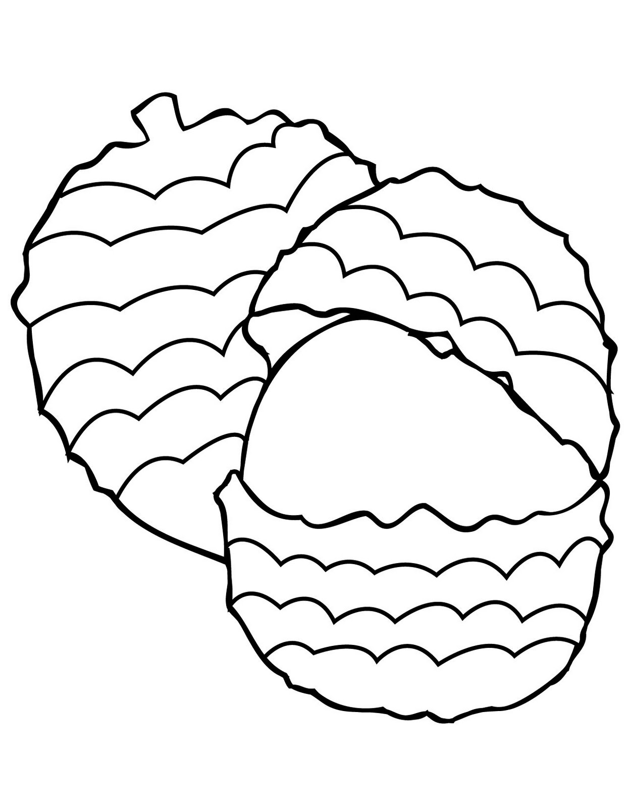 Fruit And Vegetable Coloring Pages