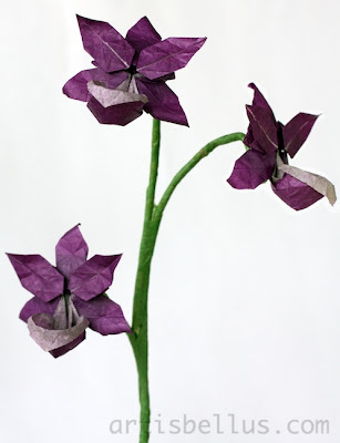 Origami Flowers: Orchid