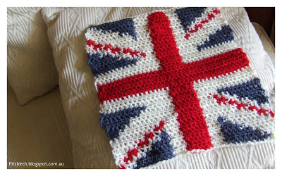 Free Knitting Pattern For Union Jack Cushion Cover : FitzBirch Crafts: Free Crochet Patterns