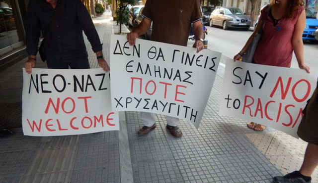 Αντιφασιστική υποδοχή στους Χρυσαυγίτες σε εκδήλωση στην Ορεστιάδα