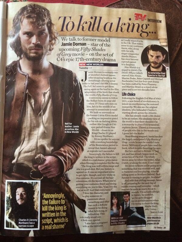 Scan: Jamie Dornan en TV Times Magazine