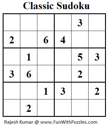 Classic Sudoku (Mini Sudoku Series #24)