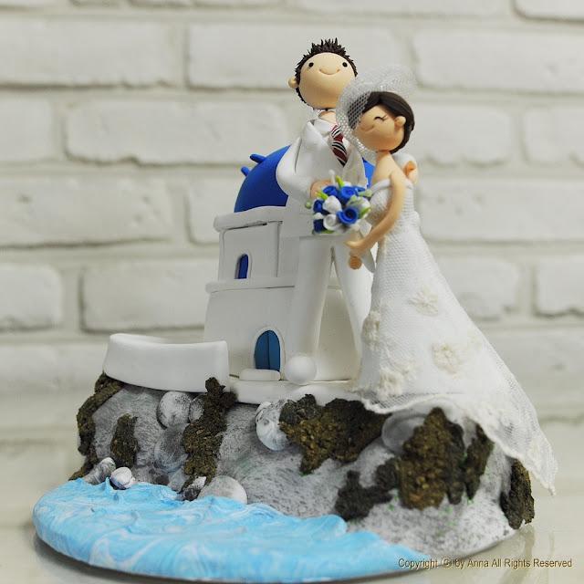 Beach Wedding Cake Topper Weddings In Greece