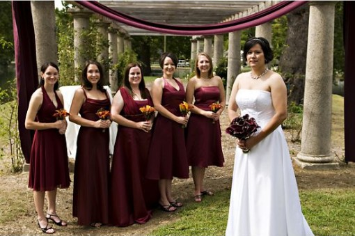Raining Blossoms Bridesmaid Dresses: Fall In Love With Burgundy ...