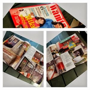 Selepas itu majalah mingguan wanita pula datang ke rumah buat liputan percuma