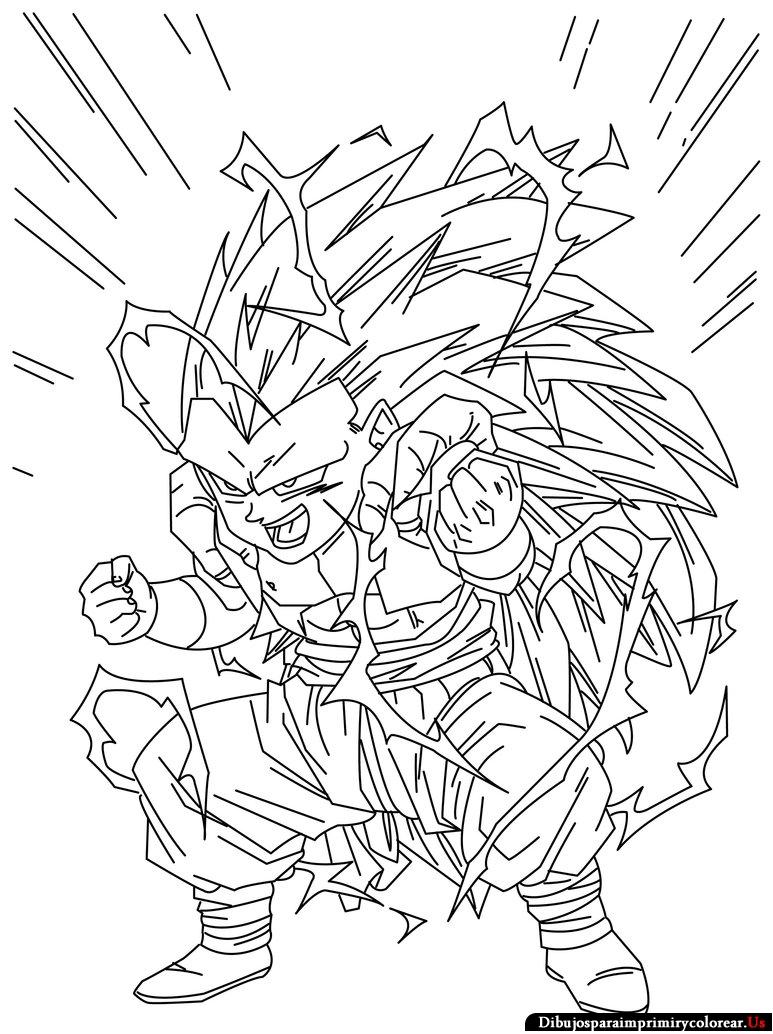 Dragon Ball Af para pintar - Imagui