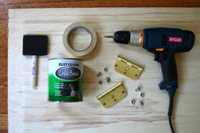 DIY Chalkboard Sandwich Board // Supplies