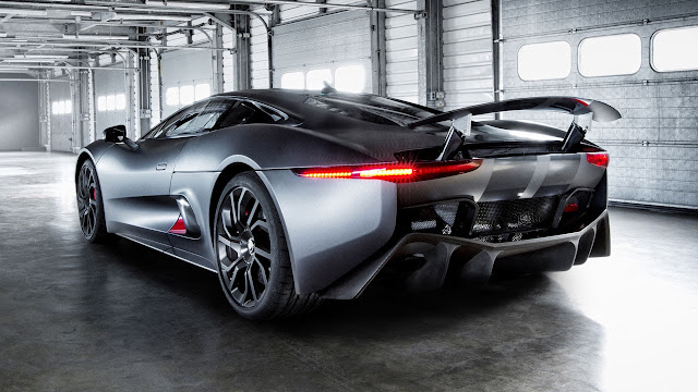 Jaguar C-X75 Hybrid supercar prototype rear
