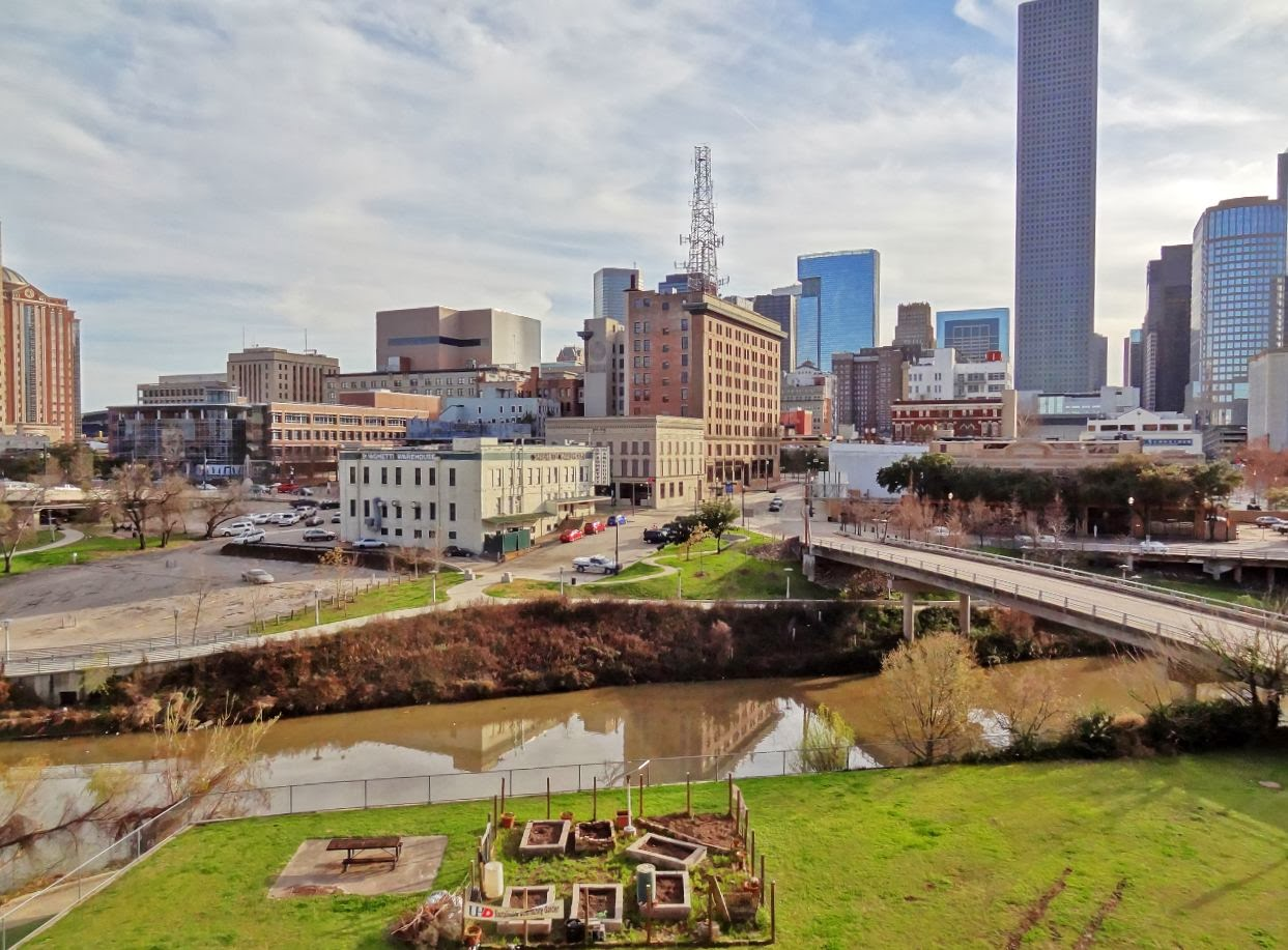 Buffalo bayou and downtown panoramic view from uhd houston in pics Houston garden centers houston tx