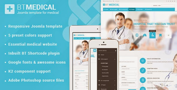 Premium Responsive Medical Joomla Template
