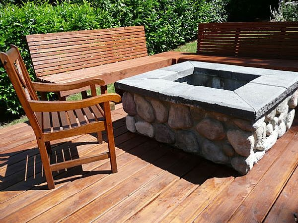 Talk rock network diy firepit for How to make a square fire pit