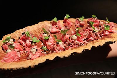 Simon food favourites the blocks pop up restaurant wine for Restaurant canape