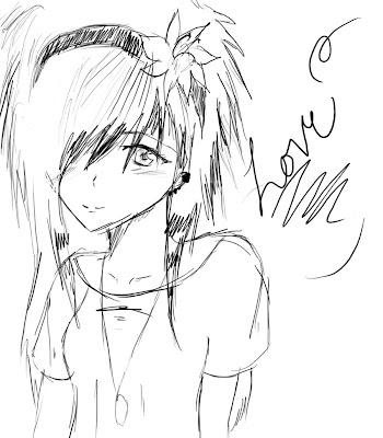 Anime Emo Love Drawings