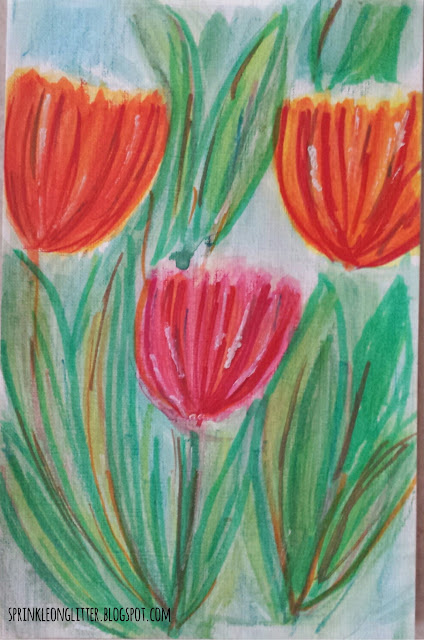 Tulips- watercolor- write 31 days