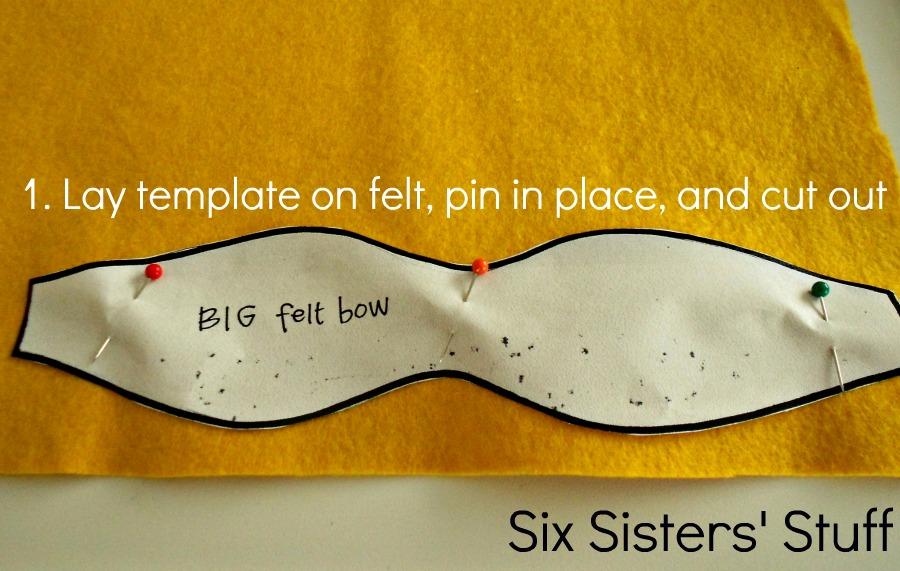 Felt bow hairbow tutorial and free printable template six felt bow hairbow tutorial and free printable template six sisters stuff pronofoot35fo Image collections
