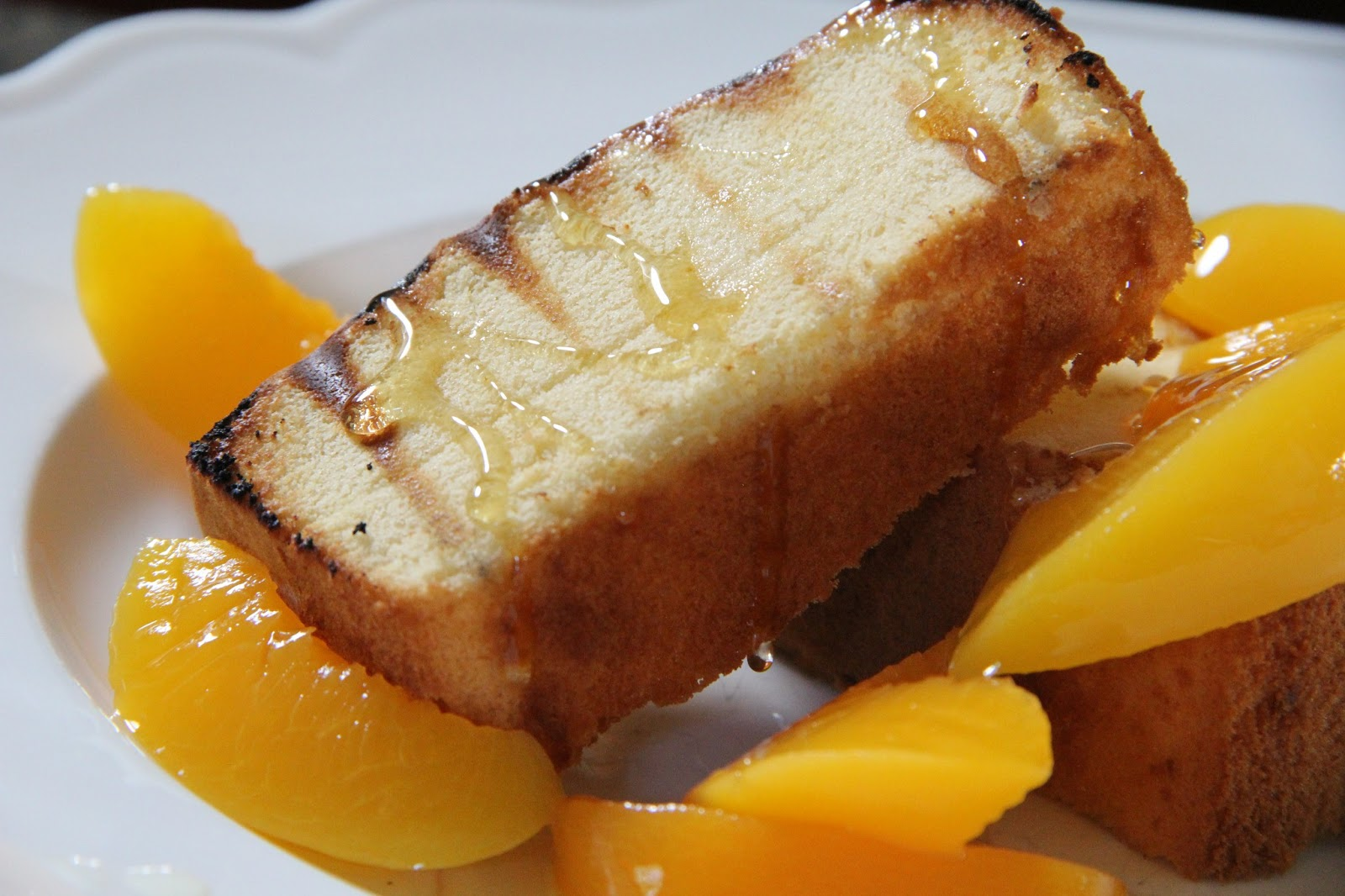 Grillin' Week: Grilled Pound Cake with Peaches | Mix and Match Mama