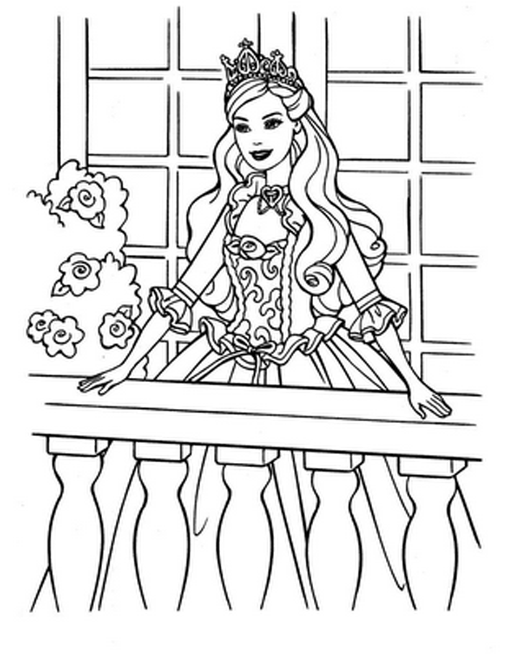 Christmas spirit princess katherine barbie coloring for Barbie coloring pages for kids