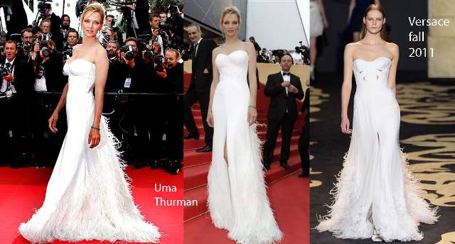 Uma Thurman Versace Dress