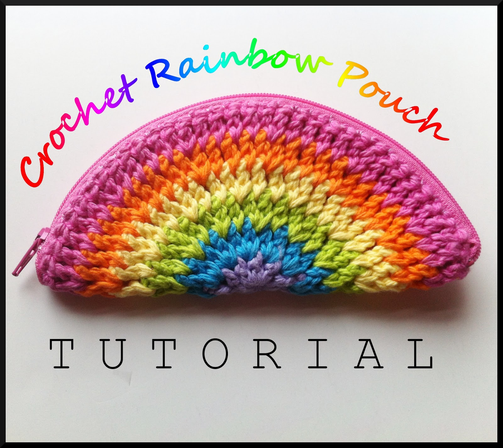 Crochet Zipper Pouch Tutorial : Zip It Zippers: Megs Crochet Rainbow Zipper Coin Purse