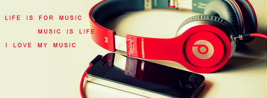 Facebook Cover (Life Is For Music Quote).