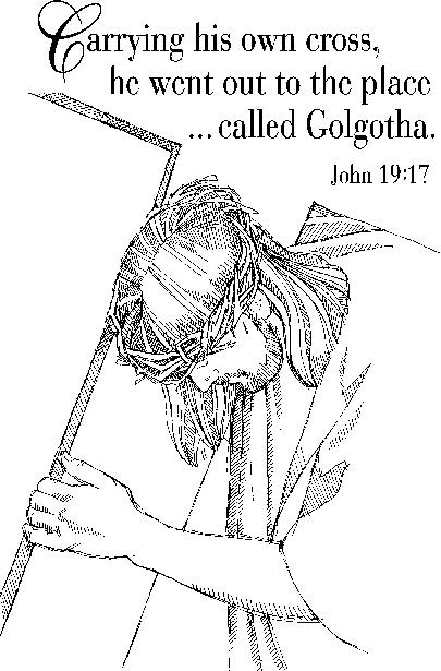 Dibujos Cristianos Para Colorear: Dibujo de Jesucristo con la cruz ...