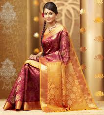 maroon wedding silk saree