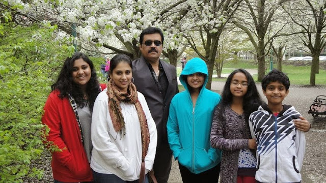 Suresh with his family