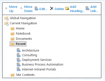 hide recent in sharepoint 2013