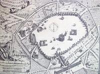 map of Mura Milano, the Milan wall, in Roman Milan
