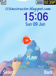 Samsung SGT-S5530 Sea Theme Download Wallpaper