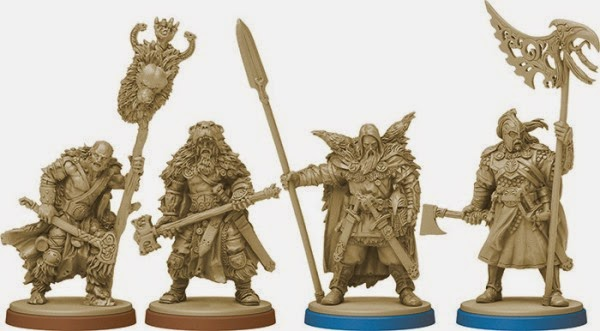 Blood Rage Viking miniatures