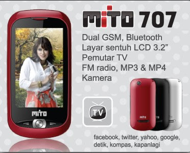 Mito 707, Touchscreen Dual GSM