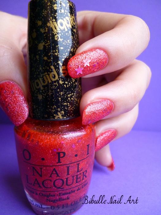 OPI - Liquid Sand - The Impossible, rouge étoilé...