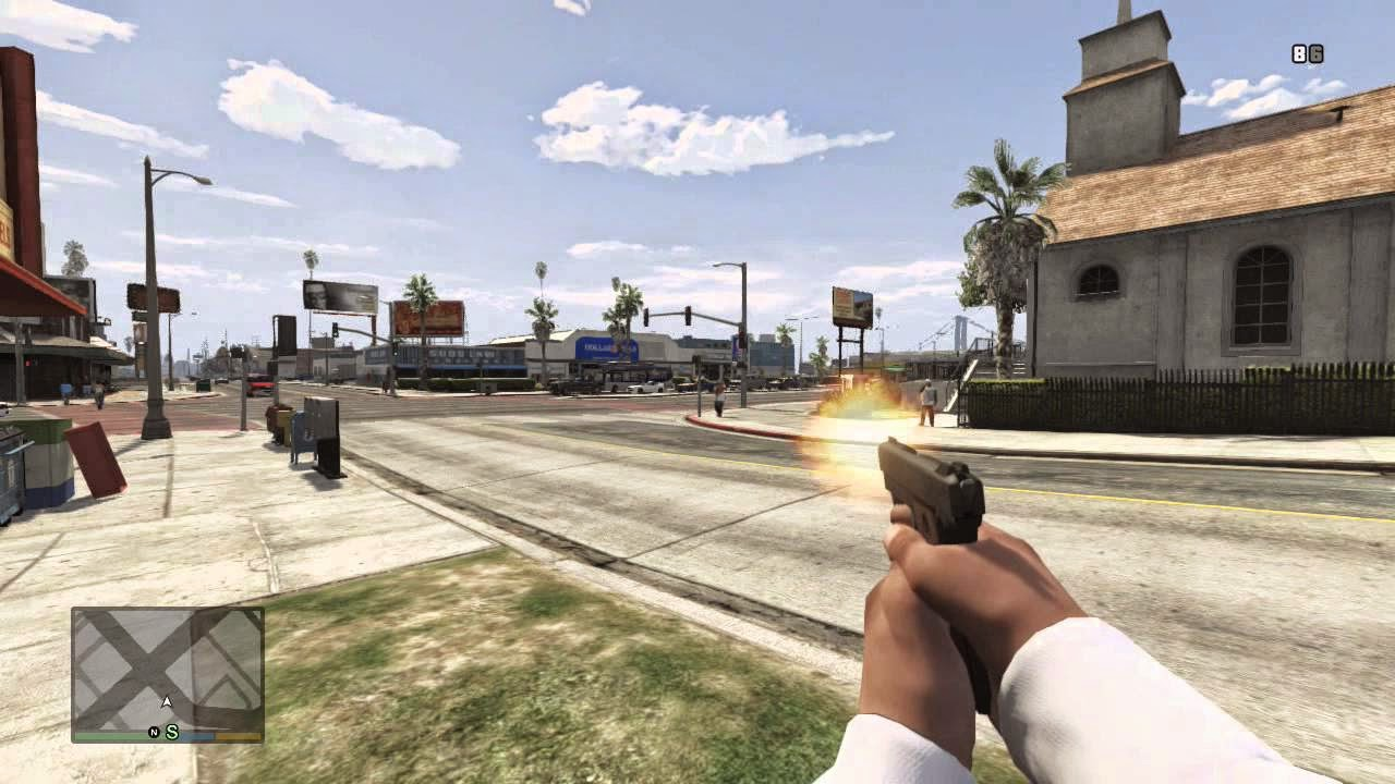 GTA V PC Mode First-Person-Shooter - GTA V INDONESIA