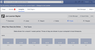 Tính năng thống kê facebook