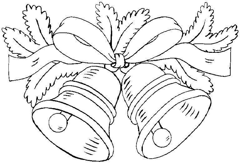 desenhos para colorir sinos de natal para colorir