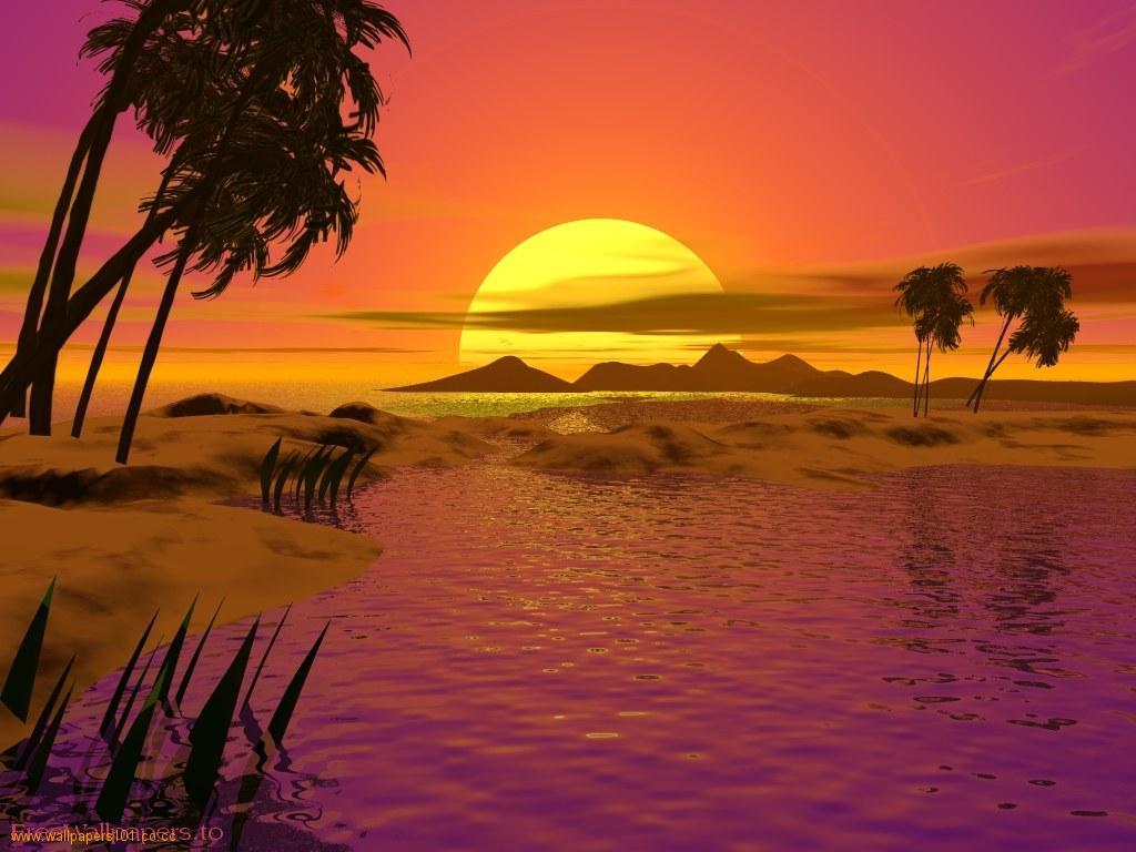 Amazing Sunset Wallpaper For Desktop 3d