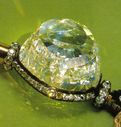 189.62 carats Orlov Diamond in the Russian Imperial Scepter.