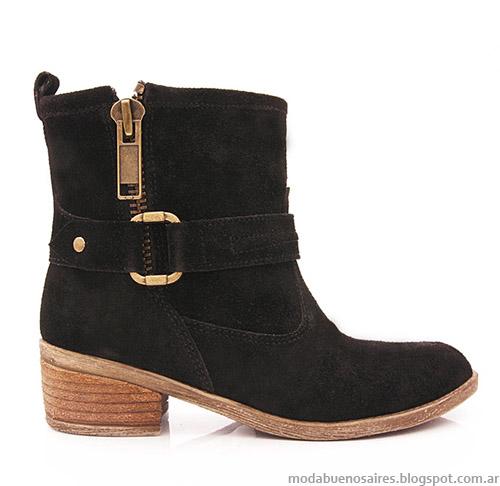Botas cortas otoño invierno 2014 Blaque. Moda calzado otoño invierno 2014.