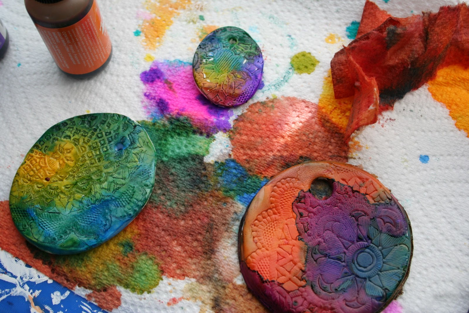 Alcohol ink on polymer clay cool tools blog metal clay jewelry alcohol ink on polymer clay cool tools blog metal clay jewelry making tips and trends baditri Images