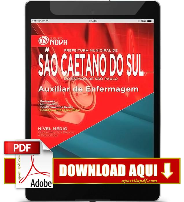 Apostila Prefeitura de São Caetano do Sul 2015 Auxiliar de Enfermagem PDF Download