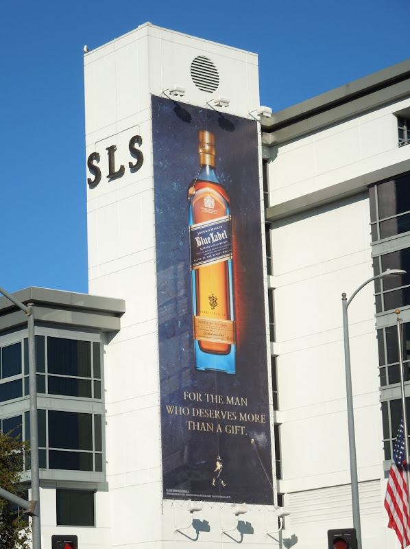 Johnnie Walker Blue Label Whisky billboard SLS Beverly Hills Hotel