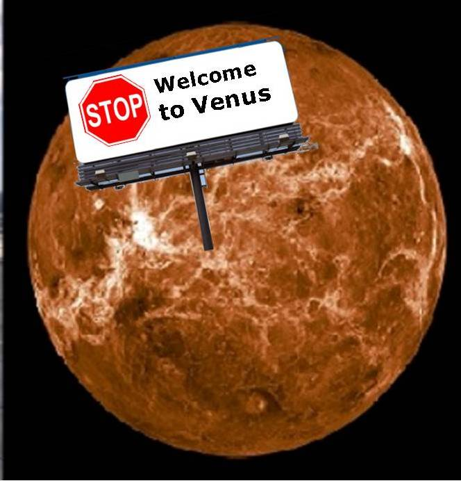 Cartoon Planet Venus Mistook the planet venus