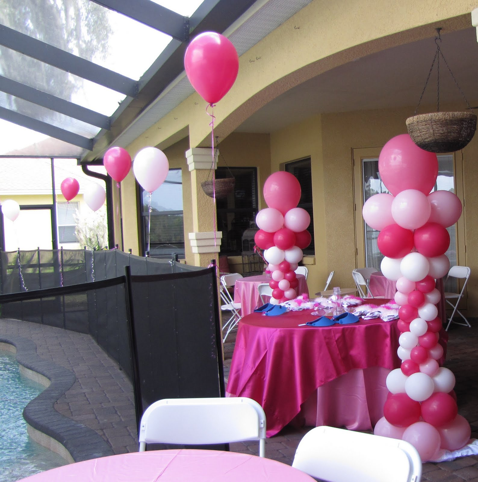 People Decorating For A Party party people event decorating company: pink birthday party
