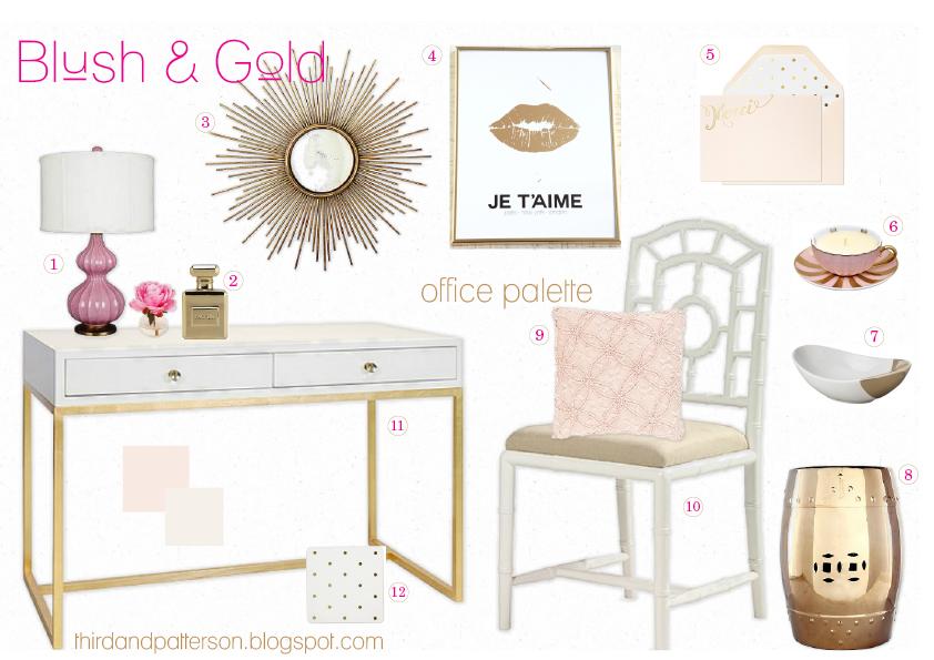 Pink Porcelain Lamp // 2. Parfum Bottle Coin Bank // 3. Sunburst Mirror 4.  Je Tu0027aime Poster // 5. Pale Pink Merci Note Cards // 6. Teacup Candle