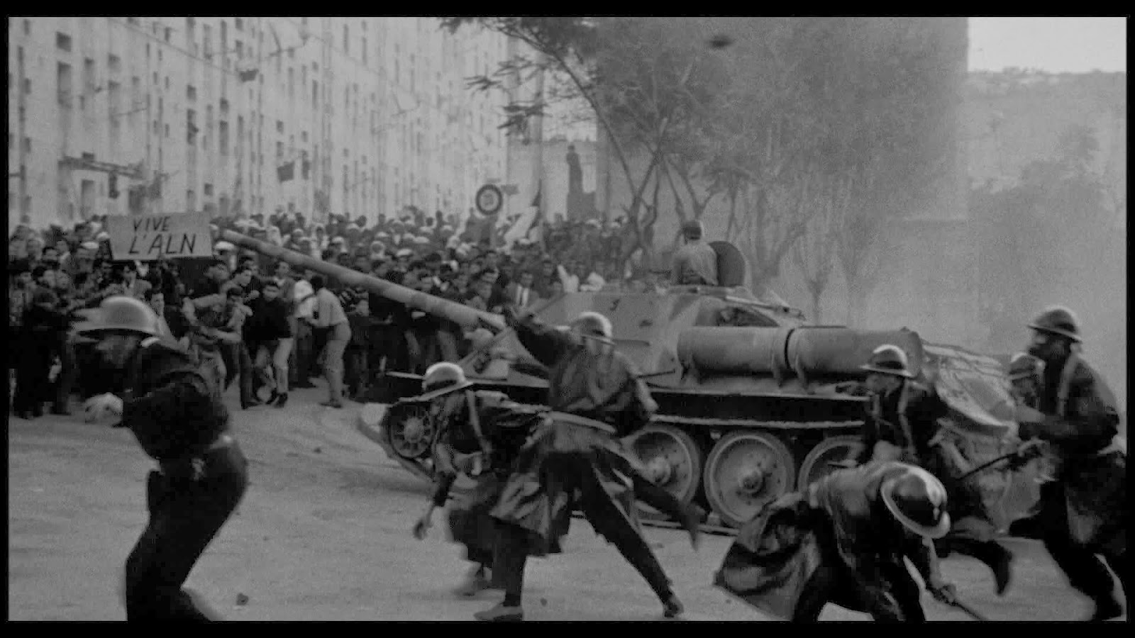 the battle of algiers The battle of algiers is clearly influenced by the movement known as italian neo-realism parallels can be seen both in the production process followed and.