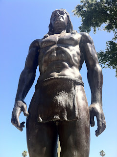 Photograph of the large sculpture of the Native American Fernando