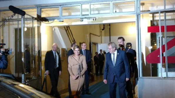 Queen Maxima of The Netherlands during the launch of the platform NLGroeit at the Van Nelle Factory in Rotterdam